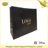 Sac de papier estampé par luxe d'achats cosmétiques de sacs en papier de cadeau (JHXY-PB16051803)