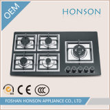 Glass Tempered Built in Five Burner Gas Hob