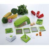 Trancheuse multifonctionnelle verte de génie de cuisine