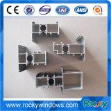 Profil en aluminium anodisé noir et blanc rocheux pour la porte et le guichet