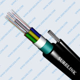 GYXTW 2 Optische Kabel van de Vezel van Sm van de Kern de Gepantserde