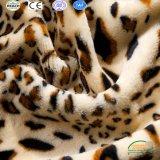 Reeks van het Beddegoed van de Vacht van het Koraal van het Af:drukken van het Patroon van de luipaard de Vastgestelde 6PCS