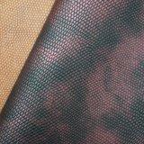 Klassisches geprägtes doppelte Farbe gedrucktes PU-ledernes synthetisches Beutel-Leder