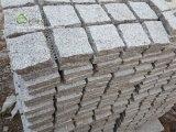 Settsの庭のテラスDriverwayのための連結の網の玉石のマットを舗装する普及した灰色の花こう岩