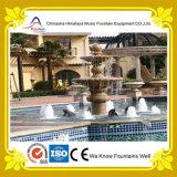 Fuente de agua de mármol de la dimensión de una variable del pilar en el centro de la piscina