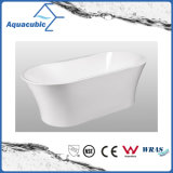 Bañera derecha libre inconsútil de acrílico pura de lujo (AB6510)