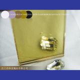 Espejo de cristal reflexivo de oro para el espejo coloreado de oro de la decoración