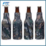 Refrigerador del embotellador del sostenedor de la poder de cerveza del neopreno del OEM con el abrelatas de botella