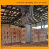 Carregamento do tijolo e máquina do descarregamento para o tijolo automático que faz a linha