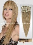 Clip en el pelo humano de Remy de la Virgen de la extensión del pelo