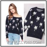 新しい方法デザイン女性女性のウールによって編まれる服装のセーター