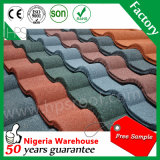 Las piedras cubiertas de metal para techos del azulejo Guangzhou Fabricación