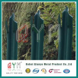 Frontière de sécurité en acier de palissade de profil de W/clôture en acier galvanisée plongée chaude de palissade