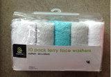 Baumwolle 100% 10 PK stellt Unterlegscheibe-Tuch-Set gegenüber