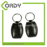 승진을%s 금속 Keychain 반지 13.56MHz MIFARE 1K 가죽 RFID 중요한 Fob를 포함하여