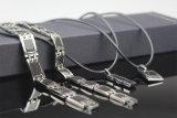 Colorare il braccialetto di energia di sanità dell'acciaio inossidabile della fibra del carbonio