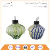 Lâmpada de petróleo de vidro decorativa, lâmpada de querosene