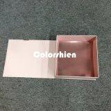 Rectángulo de regalo plegable rosado de papel clásico del embalaje de Cosmtic con