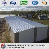 Entrepôt mobile isolé avec la structure métallique préfabriquée
