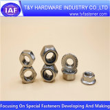 Noix Hex de bride de l'acier inoxydable DIN 6923