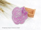 2017 Moda Rose Decorativo Applique Tejido Alfombra Rhinestones Motivo para el hierro en (HF-Rose)