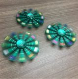 Pavo real colorido Handspinner del diamante del hilandero del arco iris
