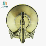 記念品のための最もよい販売法亜鉛合金の鋳造3Dマットの金の金属の皿