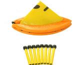 mini trampolino piegato di forma fisica di colore giallo del trampolino di ginnastica 38inch