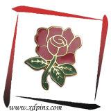 빨간 사기질 로즈 작은 꽃 핀