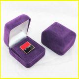 記念品ピンのためのWollen特別な紫色のボックス