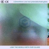 3.2mm 4.0mm templado bajo de hierro Ar revestido de vidrio solar para el panel solar