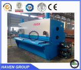 Estaca Machine, QC11y-10X3200 Guillotine Shearing e Cutting Machine, Steel Plate Shearing e Cutting Machine
