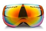 L'ultravioletto tinto mette in mostra l'obiettivo smontabile degli occhiali di protezione di inverno di vetro