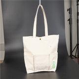 Foldableハンドルのショッピング綿のキャンバス袋をリサイクルしなさい