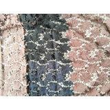 Heißes Verkaufs-Doppelt-Farben-Polyester-Stickerei-Kleid-Spitze-Gewebe 100%