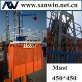 Ascenseur de construction de classeur de Sc200 2*11kw Moto