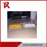 Sicherheits-doppelter reflektierender gelbes Licht-runder Plastikstraßen-Markierungs-Reflektor