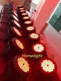 4PCS /54 X 3W Licht van het PARI van RGBW het Waterdichte voor de Lichte Partij van de Muziek van de Lamp van de Partij van de Club