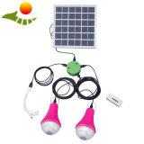 3W LED solare illumina la marca ricaricabile solare intelligente di alba della lampada dei kit solari LED di colore verde