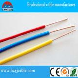Alambre eléctrico individual de cobre o CCA conductor con aislamiento de PVC (BV / H07V-U)