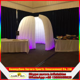 Kundenspezifischer aufblasbares Foto-Stand-Maschinen-Zelt-aufblasbarer quadratischer weißer Foto-Stand mit Lichtern