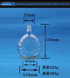 Xo Glasflasche mit Korken und runder Form
