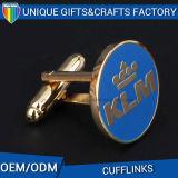 Botão de punho da tecla do punho da luva do botão de punho do metal da forma da coroa