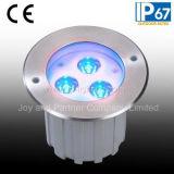 ステンレス鋼9W RGB LEDのデッキのステップライト(JP82636)