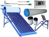 Chaufferette d'eau chaude solaire de tube électronique d'énergie non-pressurisée de capteur solaire/chauffe-eau capteur solaire avec le réservoir auxiliaire