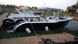 Barco de pesca de aluminio de la consola de centro