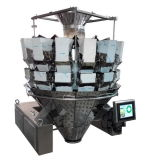 Computerized automatico 14 Heads Multihead Weigher con Double Door
