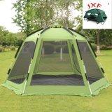 6-8人の六角形の二重層の自動キャンプテント