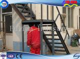 Nueva escalera de acero diseñada y residencial para el taller/el almacén (SSW-S-001)