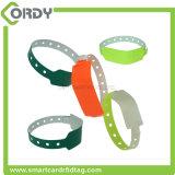 Wristband disponible del PVC de la frecuencia ultraelevada del extranjero impermeable H3 de ISO18000-6C